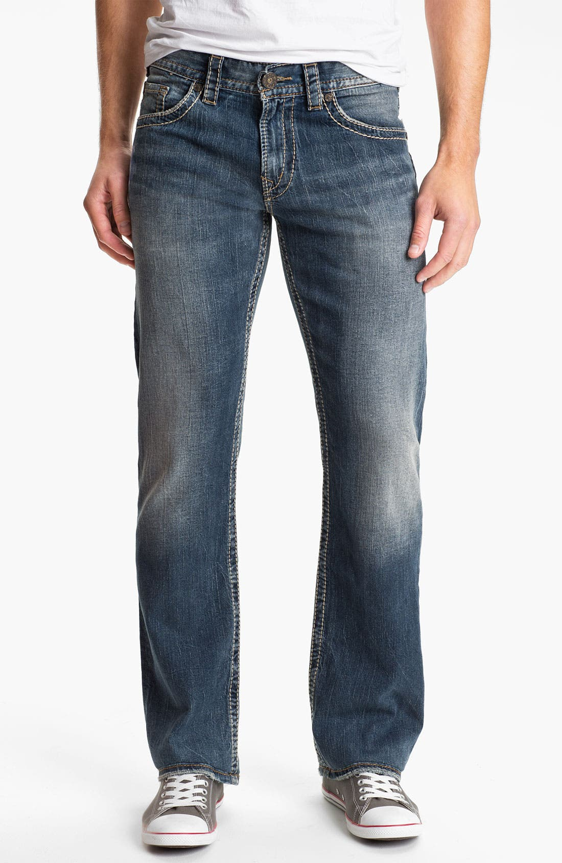 Alternate Image 2  - Silver Jeans Co. 'Zac' Straight Leg Jeans (Indigo)