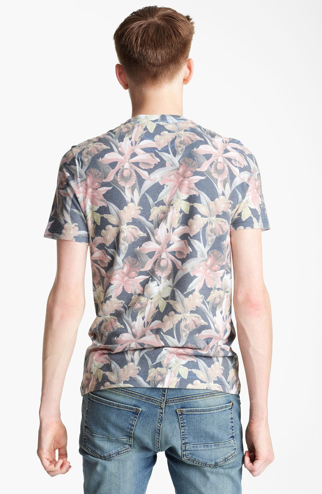 Alternate Image 2  - Topman 'Moody Floral' Print T-Shirt