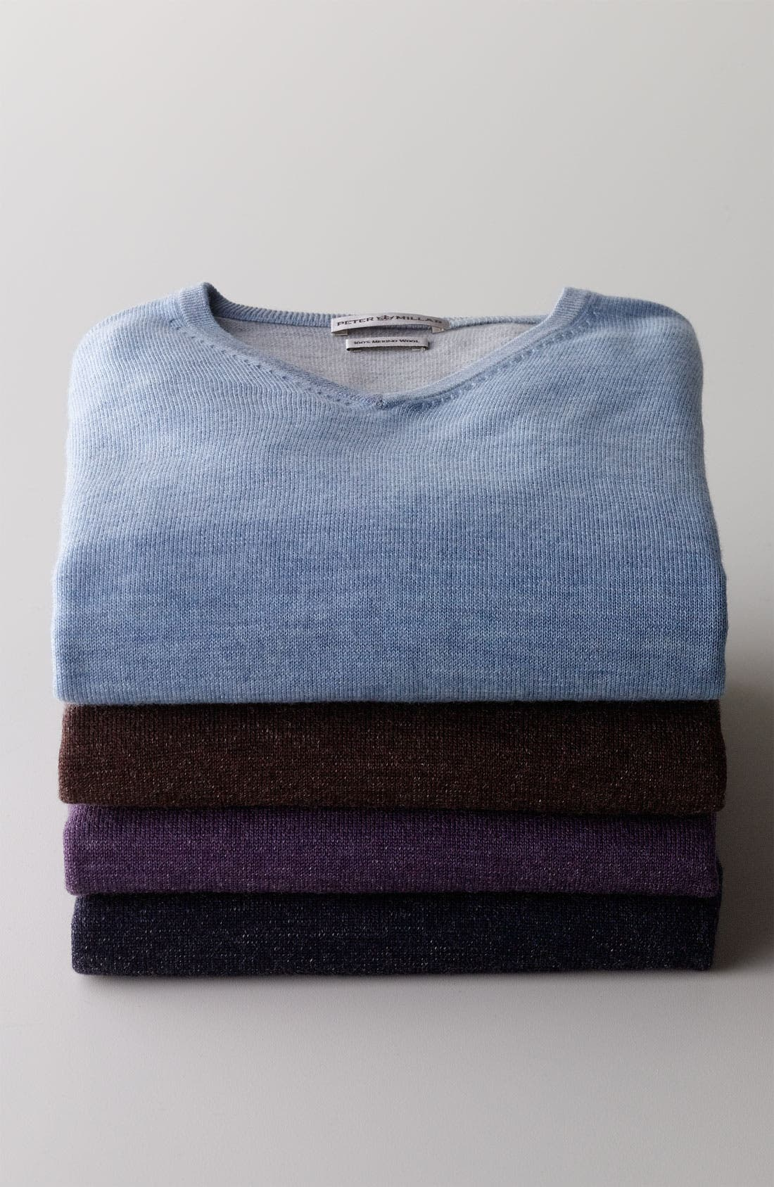 Alternate Image 2  - Peter Millar V-Neck Merino Wool Sweater