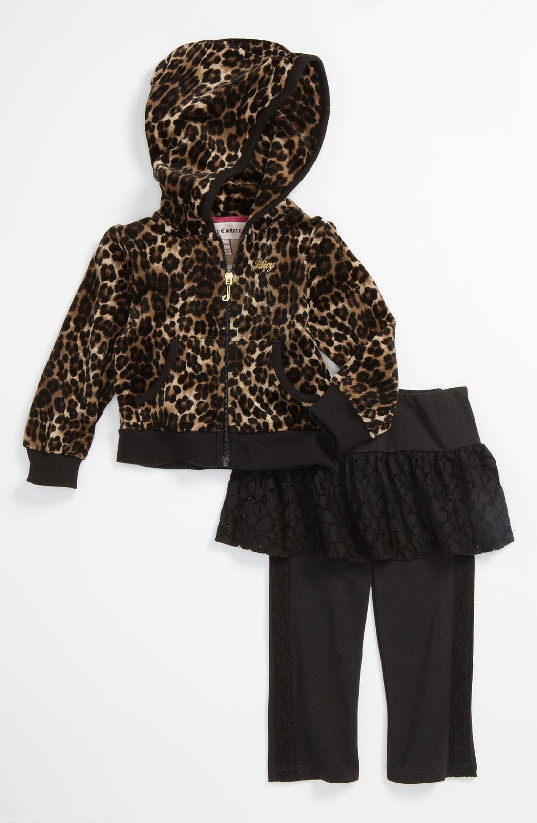 Main Image - Juicy Couture Hoodie & Leggings (Infant)