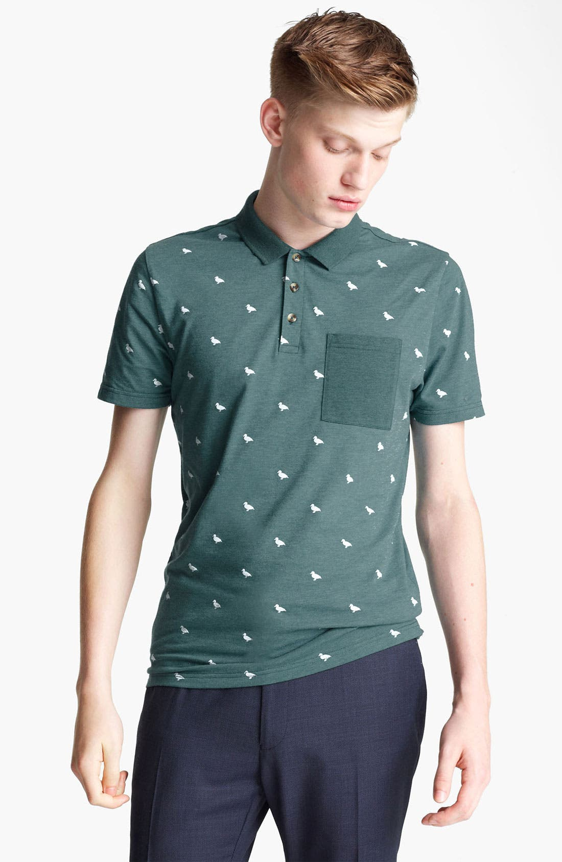 Alternate Image 1 Selected - Topman Duck Print Polo
