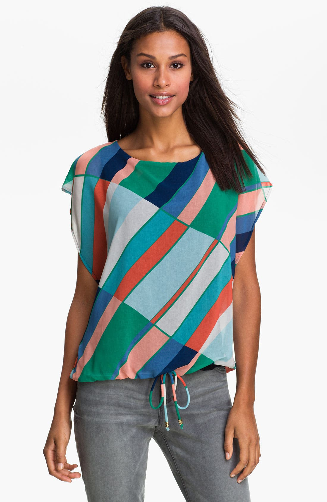 Alternate Image 1 Selected - MOD.lusive Stripe Blouse (Nordstrom Exclusive)