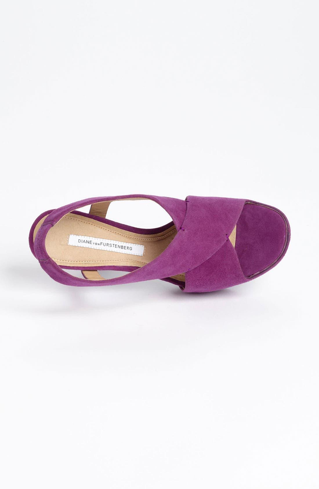 'Zia' Platform Sandal,                             Alternate thumbnail 3, color,                             Purple