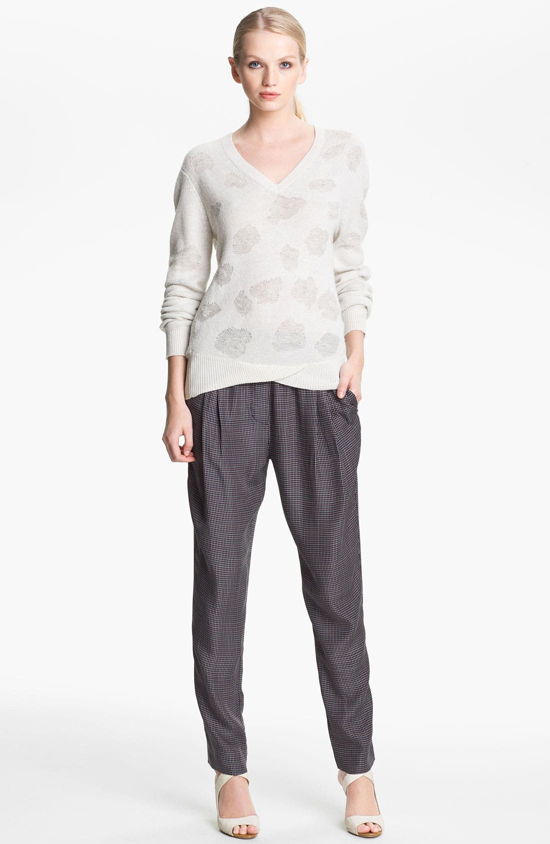 Alternate Image 1 Selected - 3.1 Phillip Lim Floral Jacquard Sweater