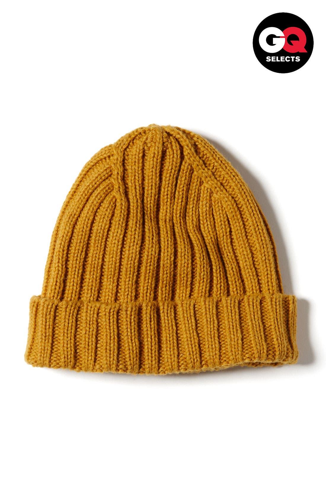 Knit Cap,                             Main thumbnail 1, color,                             Mustard