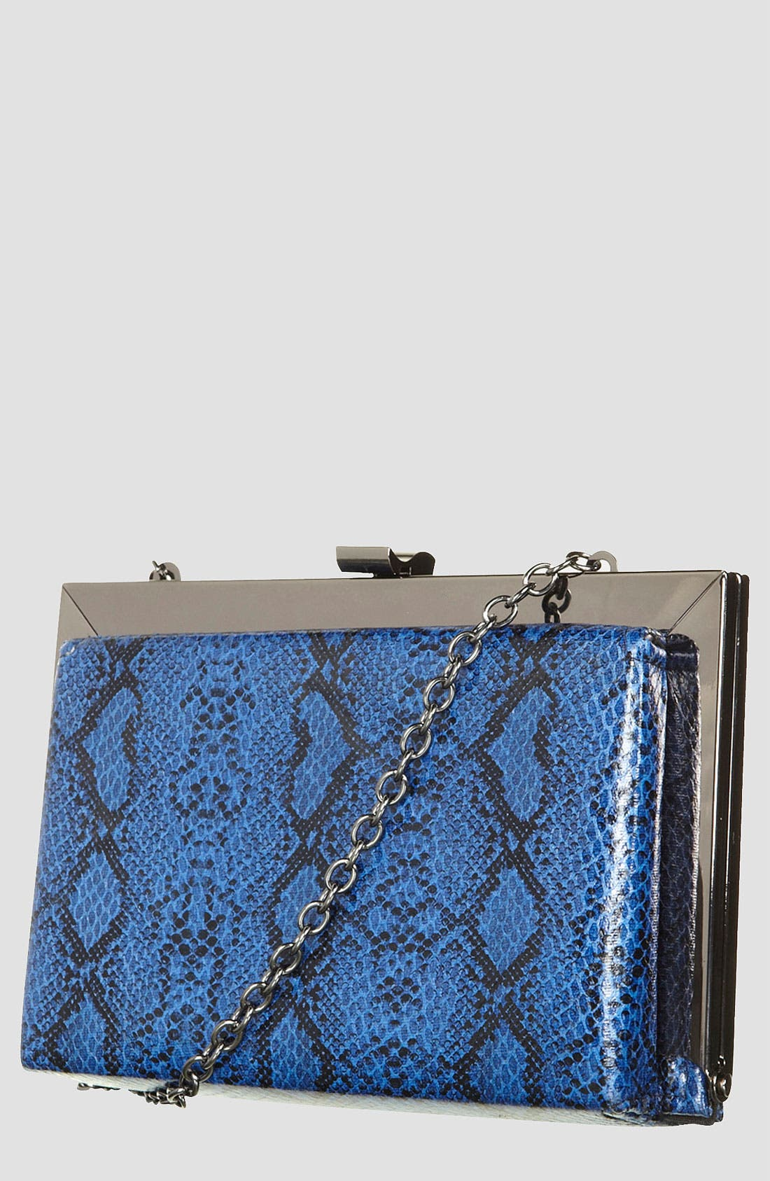 Alternate Image 1 Selected - Topshop Snake Embossed Frame Shoulder Bag