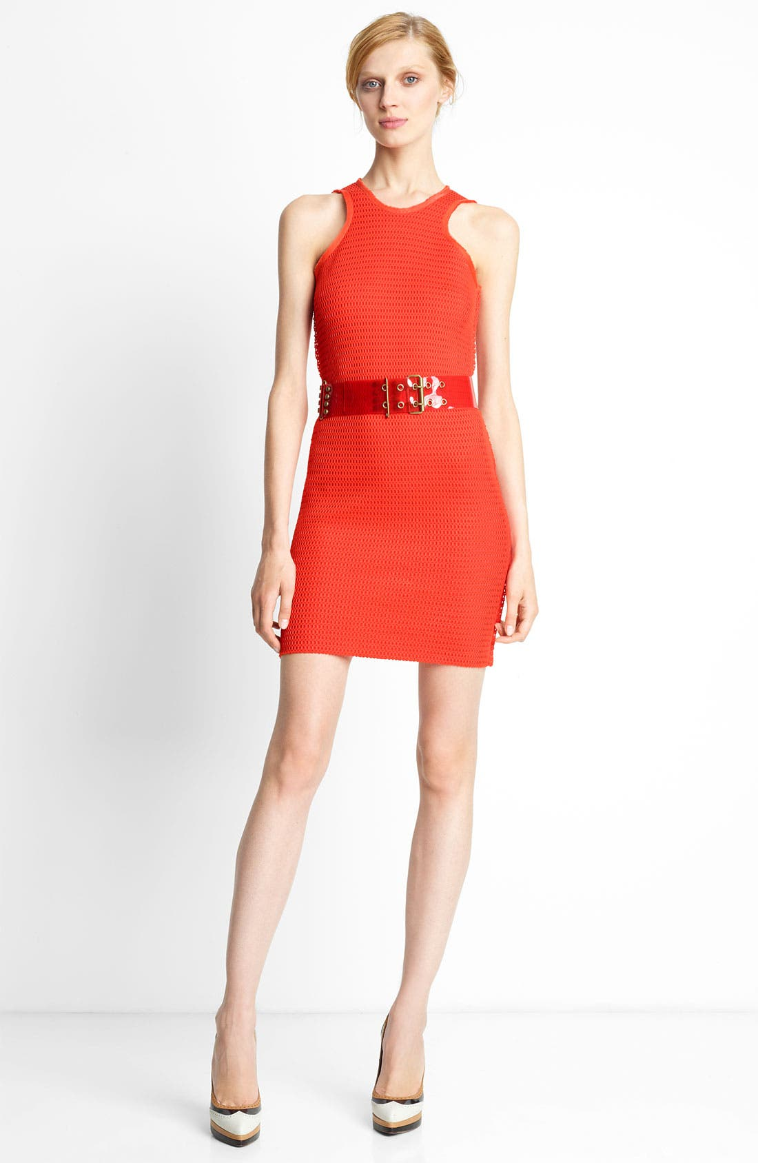 Alternate Image 1 Selected - Lanvin Perforated Techno Knit Dress