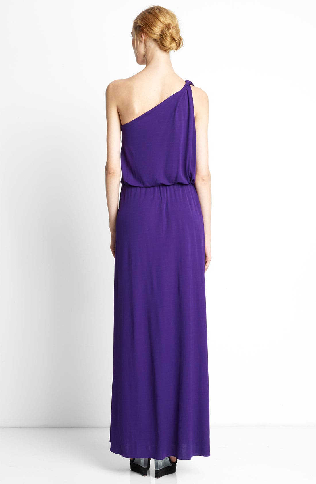 Alternate Image 2  - Lanvin Twisted One Shoulder Jersey Gown