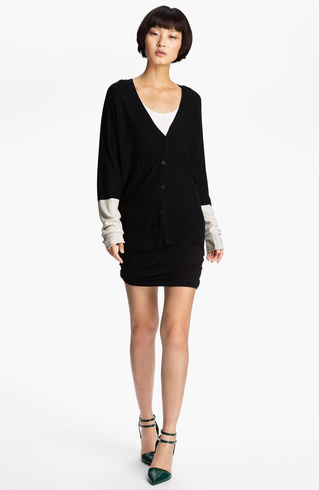 Alternate Image 1 Selected - T by Alexander Wang Colorblock Cardigan