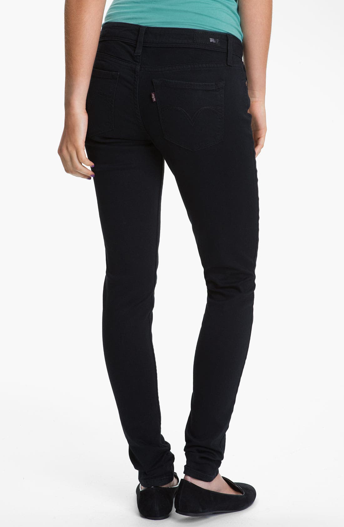 Alternate Image 1 Selected - Levi's® Skinny Jeans (Wax Rinse Sateen)
