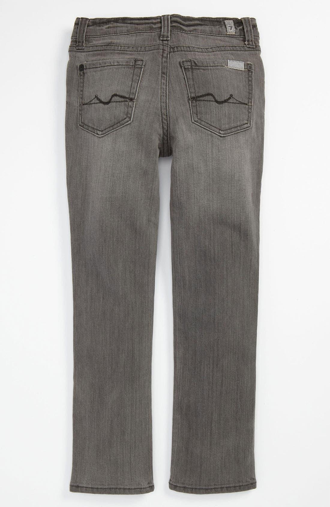 Alternate Image 1 Selected - 7 For All Mankind® 'Roxanne' Skinny Jeans (Little Girls)