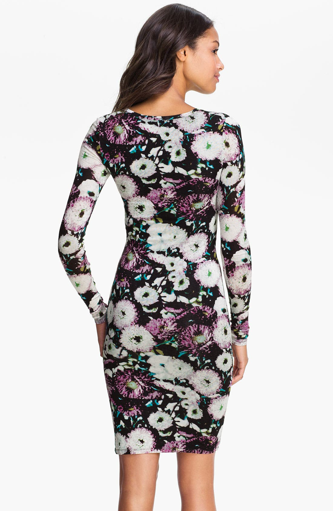 Alternate Image 2  - BCBGMAXAZRIA Floral Print V-Neck Sheath Dress