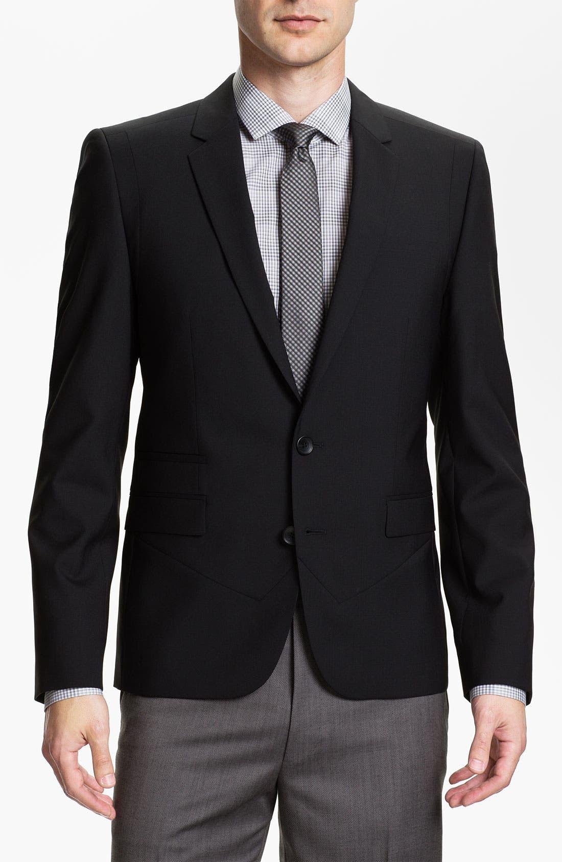 Alternate Image 1 Selected - HUGO 'Arwis' Trim Fit Stretch Wool Blazer