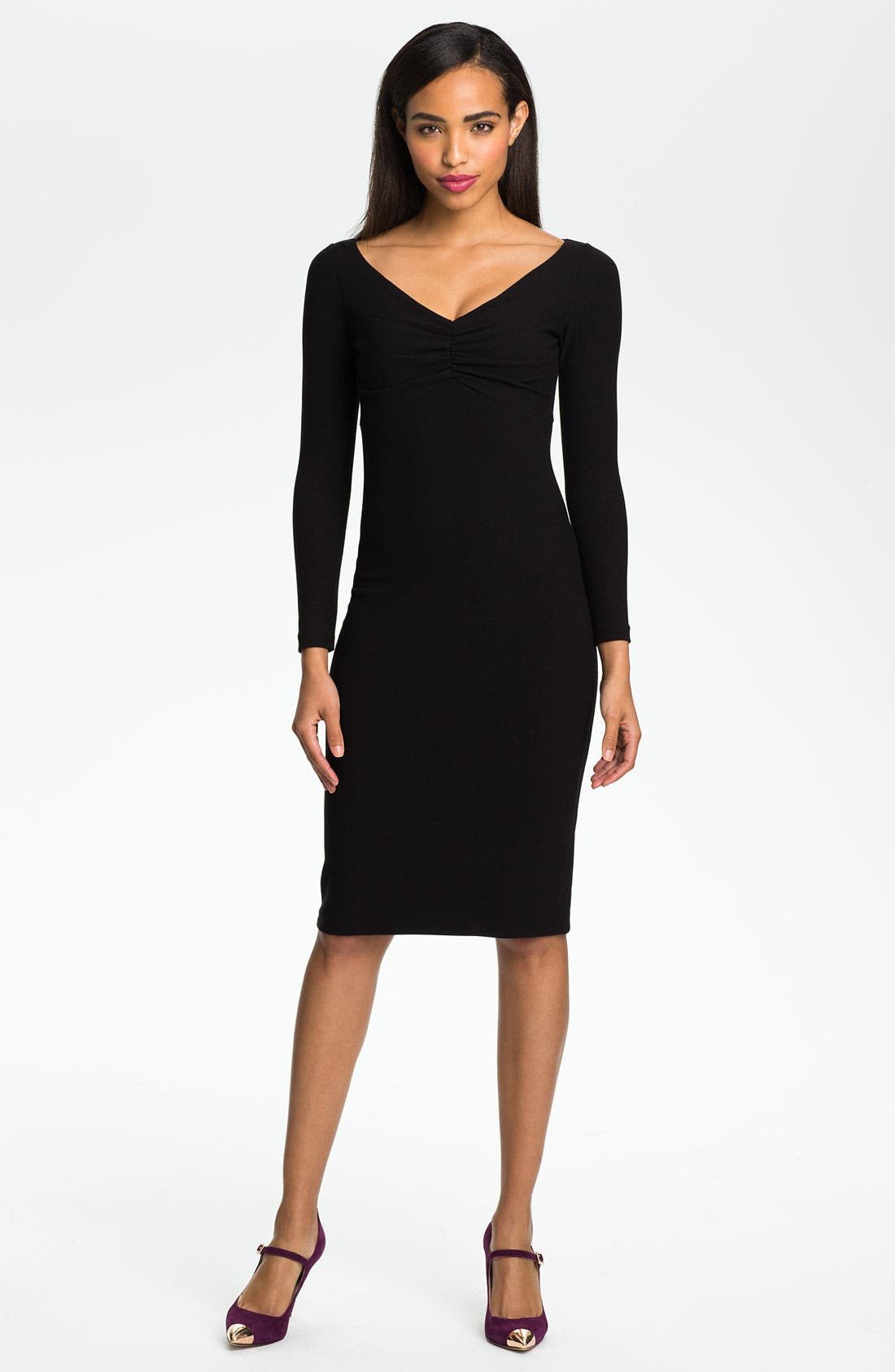 Alternate Image 1 Selected - La Petite Robe by Chiara Boni Ruched V-Neck Sheath Dress