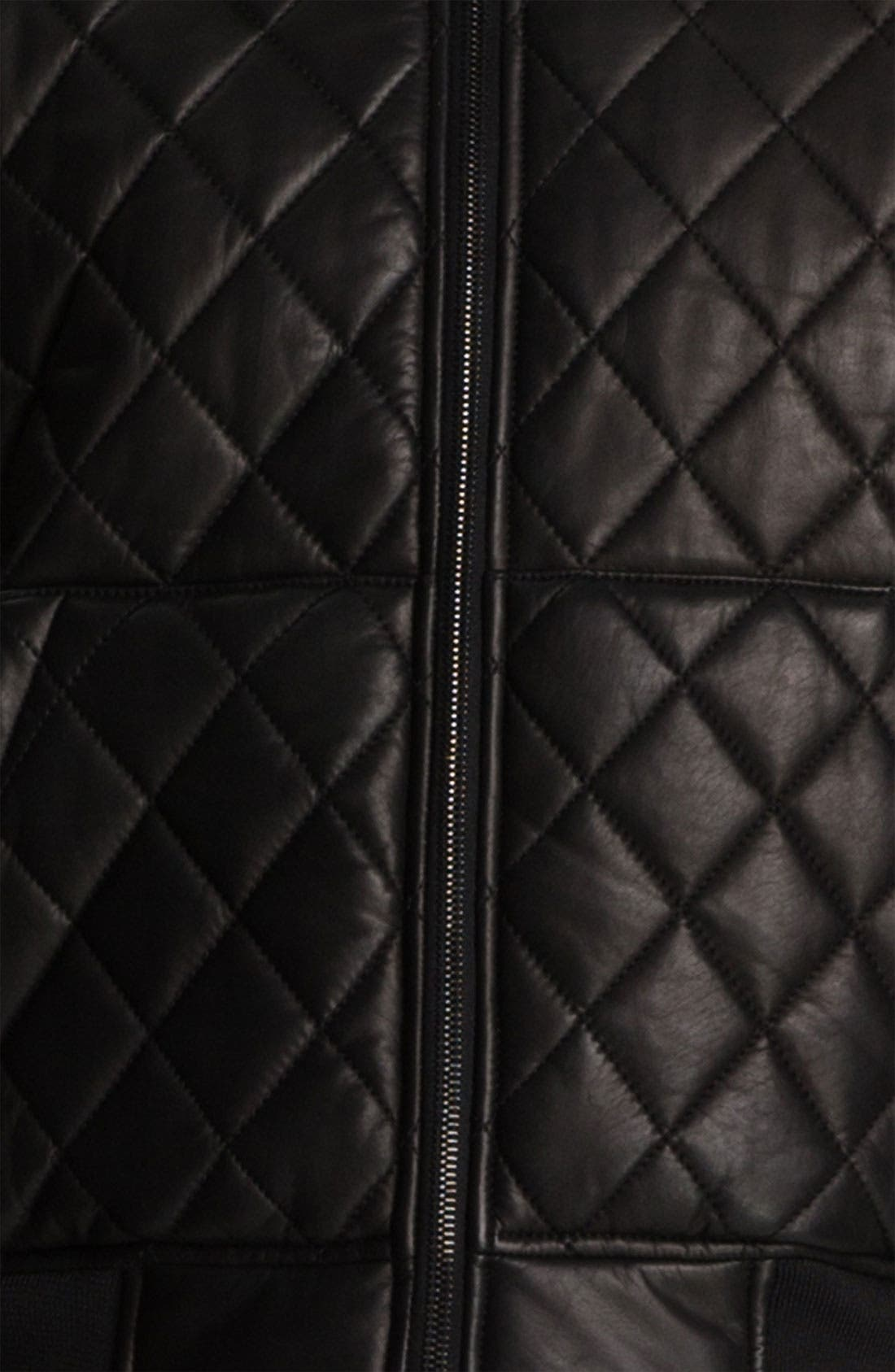 Alternate Image 4  - Alexander Wang Quilted Leather Bomber Jacket