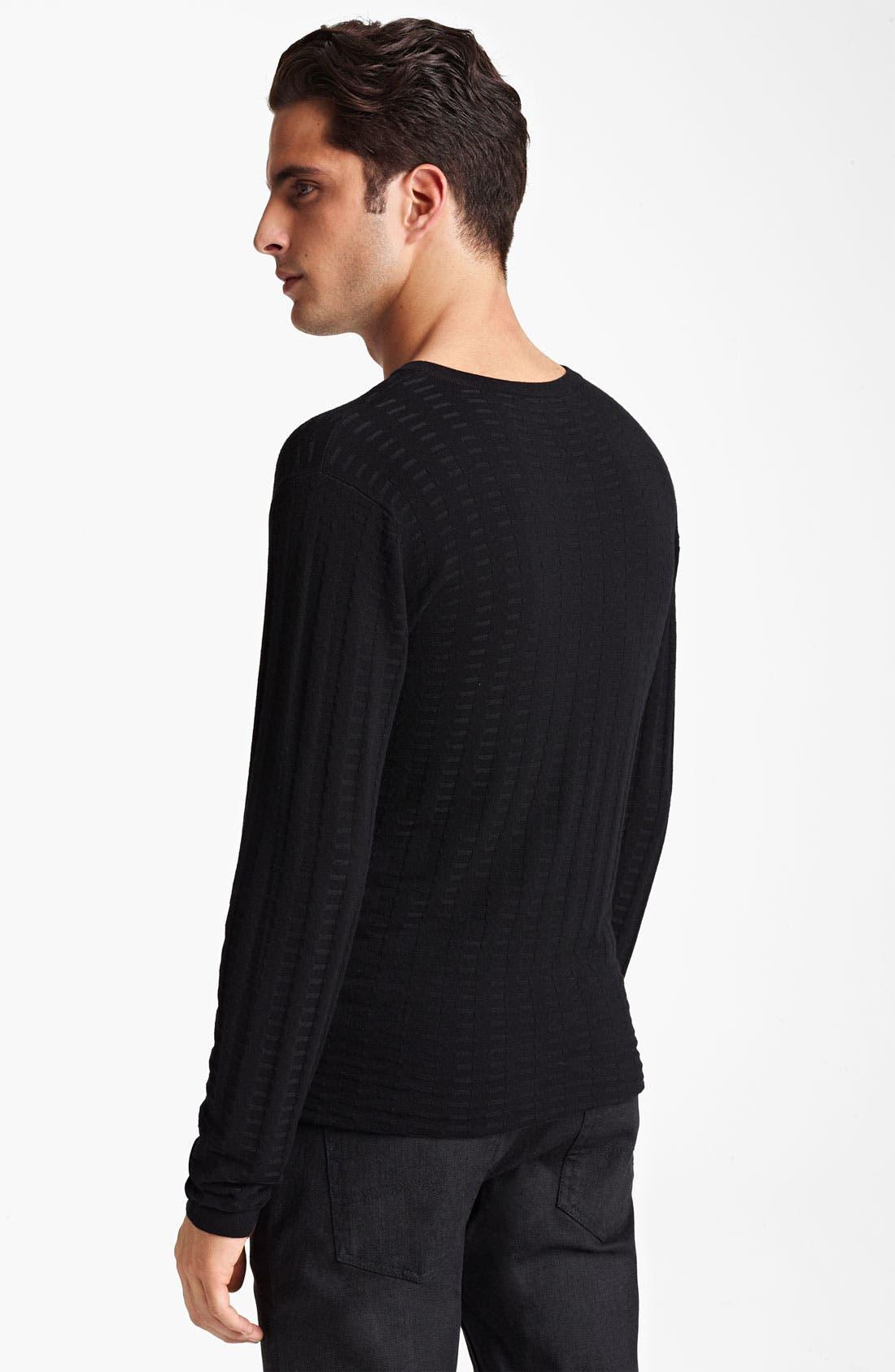 Alternate Image 2  - Armani Collezioni V-Neck Textured Knit Sweater