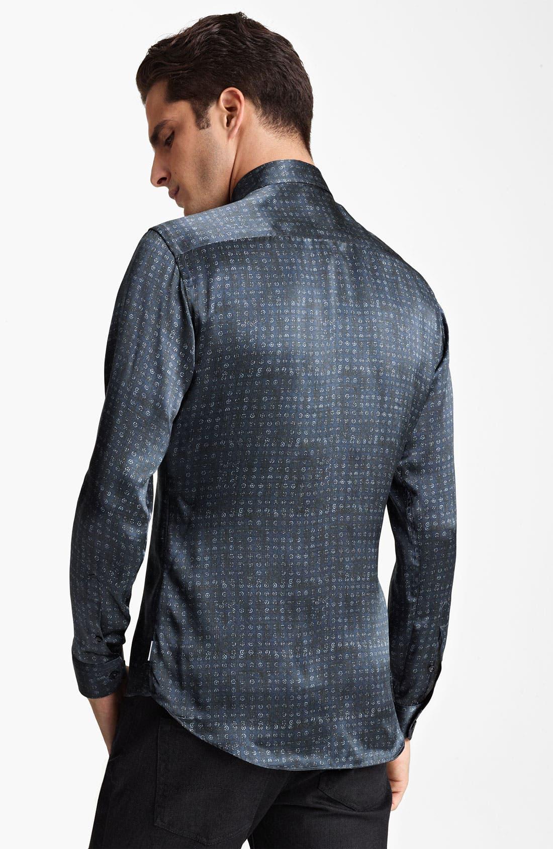 Alternate Image 2  - Armani Collezioni Silk Dot Sport Shirt