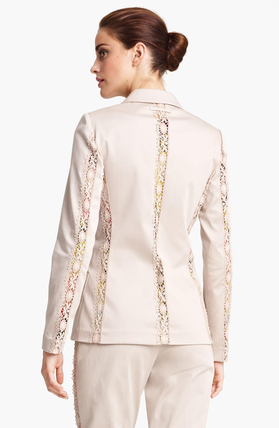 Alternate Image 2  - Jean Paul Gaultier Lace Detail Stretch Gabardine Blazer
