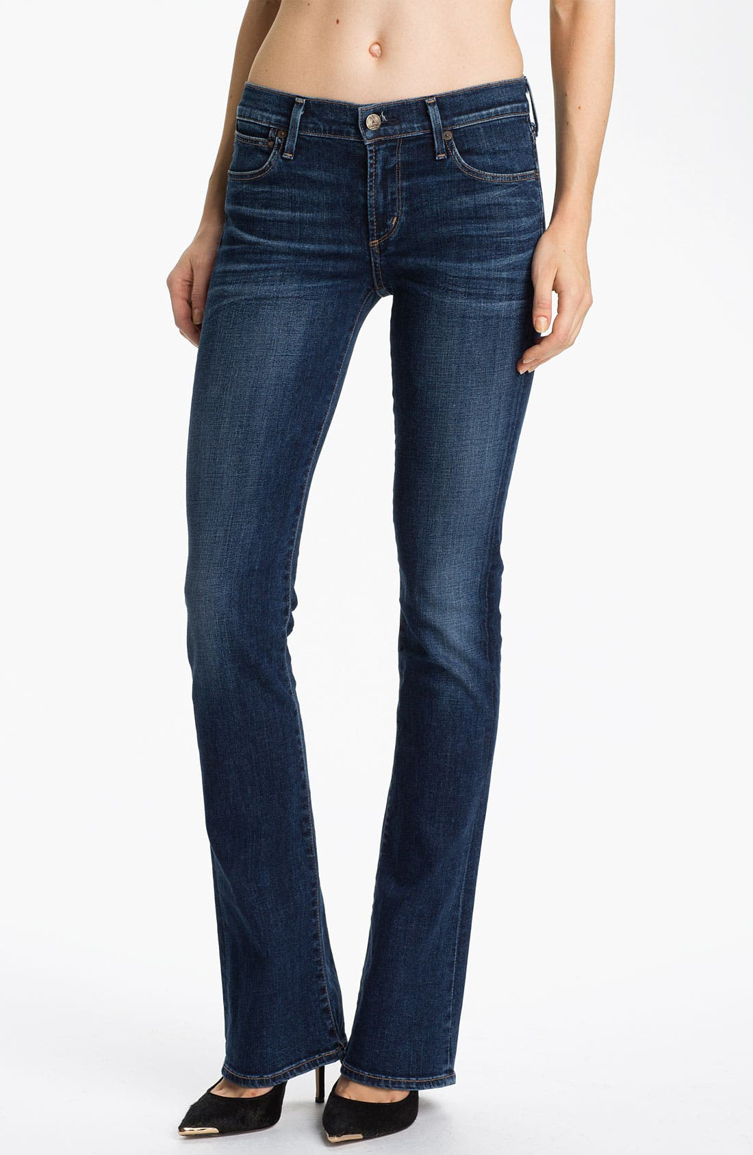 Alternate Image 1 Selected - Citizens of Humanity 'Emmanuelle' Slim Bootcut Jeans (Crispy)