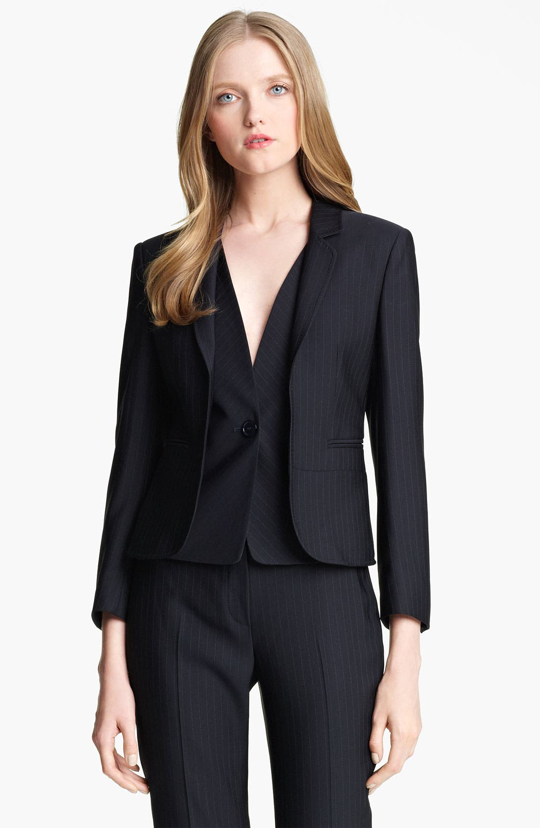 Main Image - Armani Collezioni Pinstripe Jacket with Attached Vest