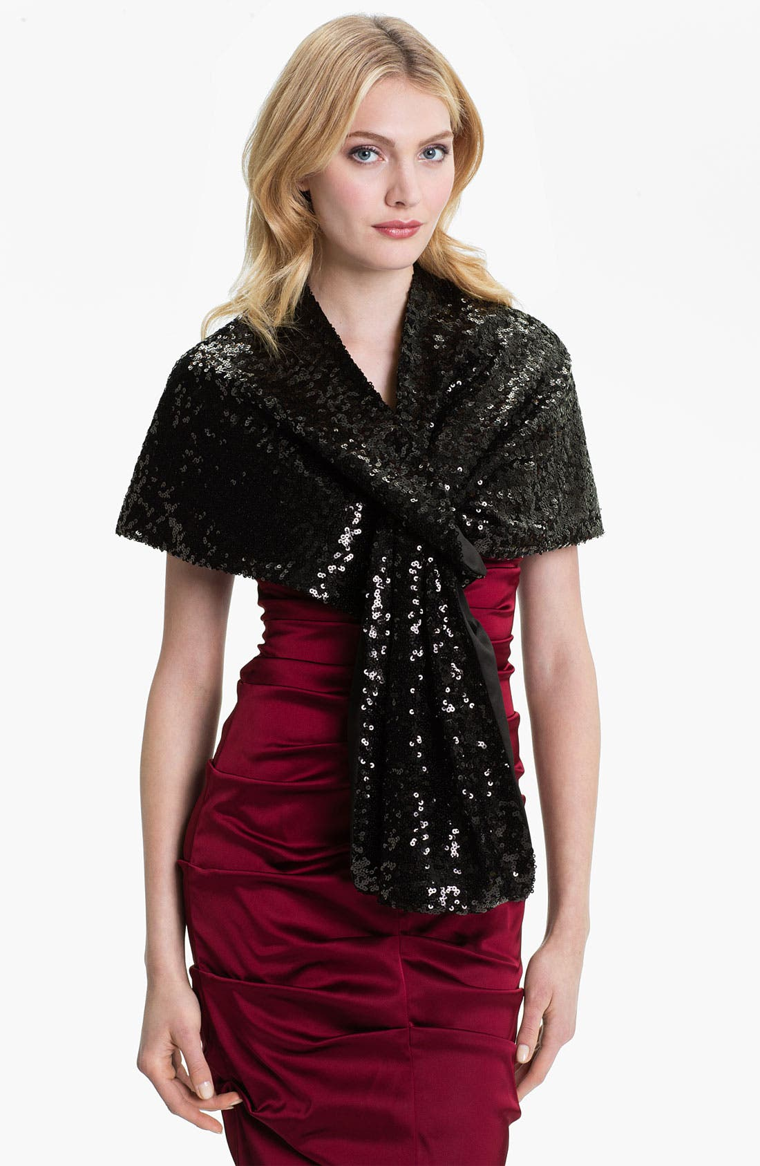 Alternate Image 1 Selected - Adrianna Papell Sequin Stole