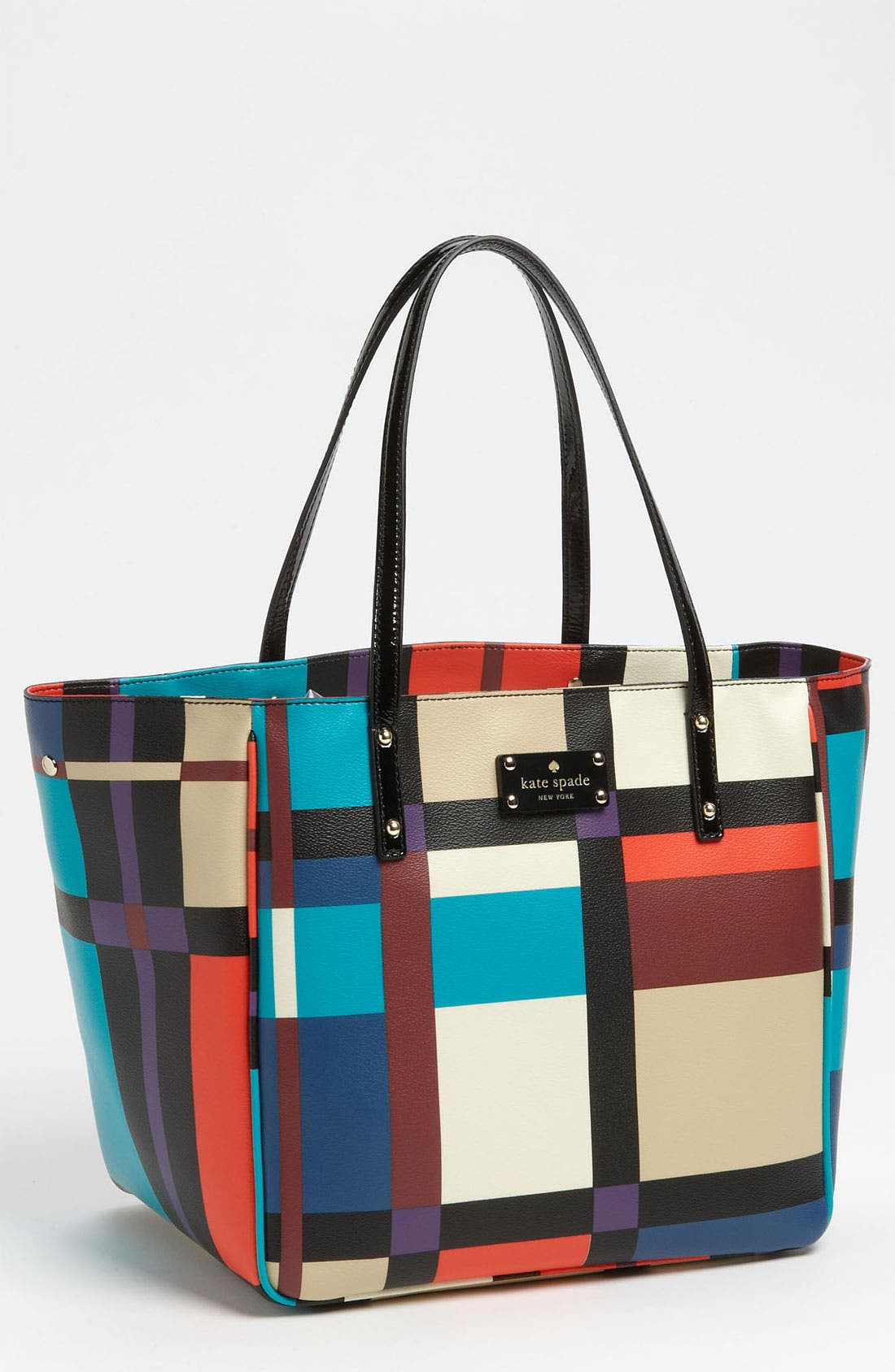 Main Image - kate spade new york 'perry street plaid - sidney' tote