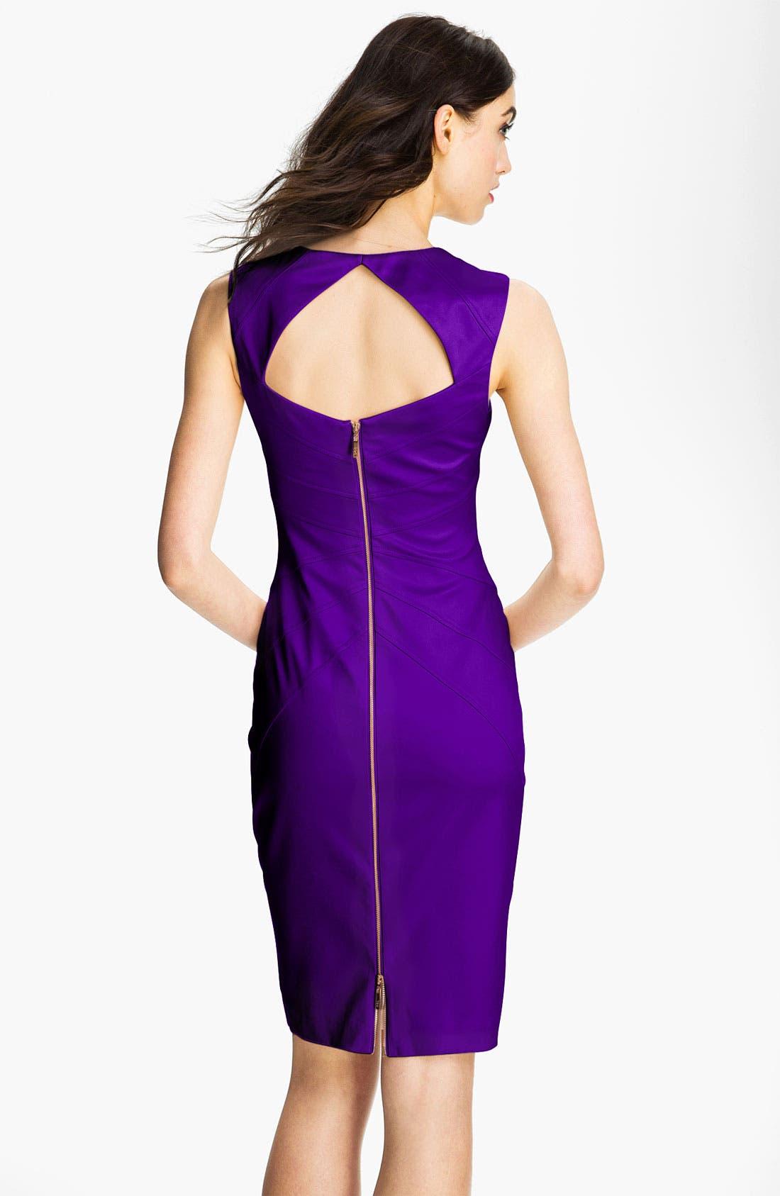 Alternate Image 2  - Jessica Simpson Starburst Seam Sheath Dress