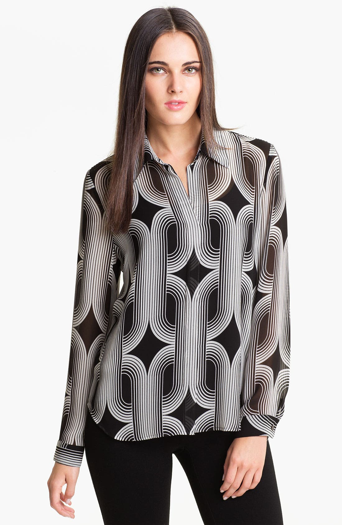 Alternate Image 1 Selected - Vince Camuto 'Deco Braids' Blouse