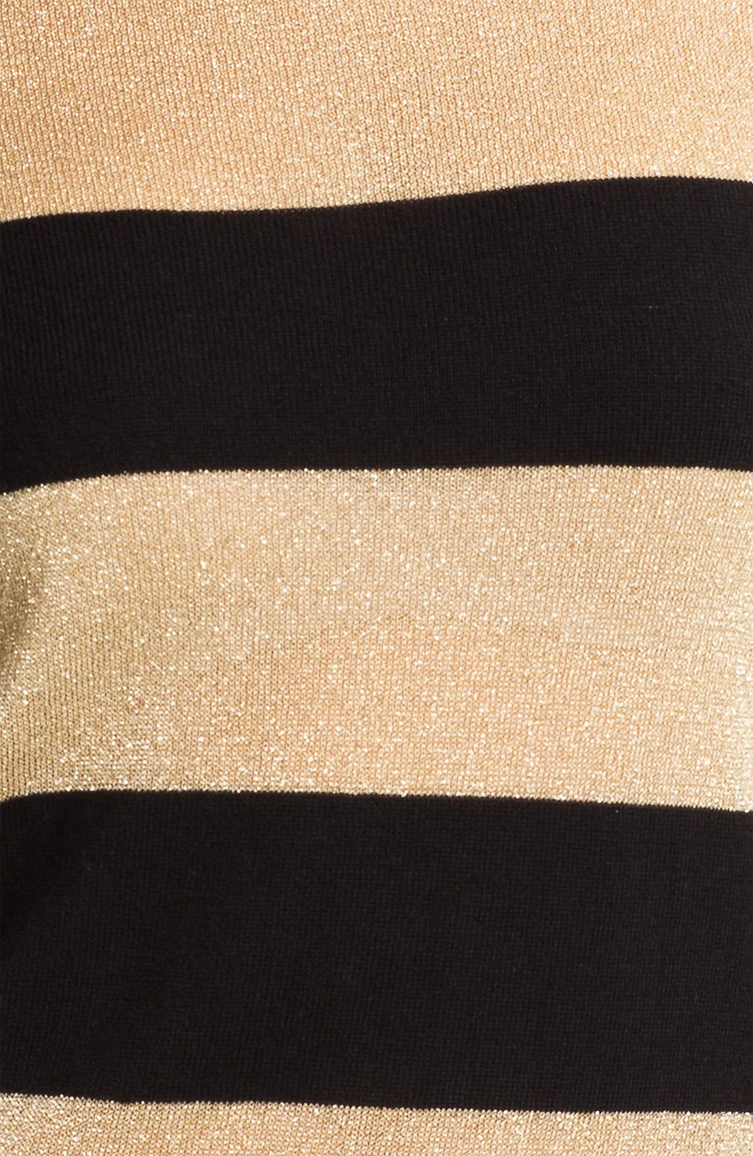 Alternate Image 3  - Vince Camuto Metallic Stripe Sweater