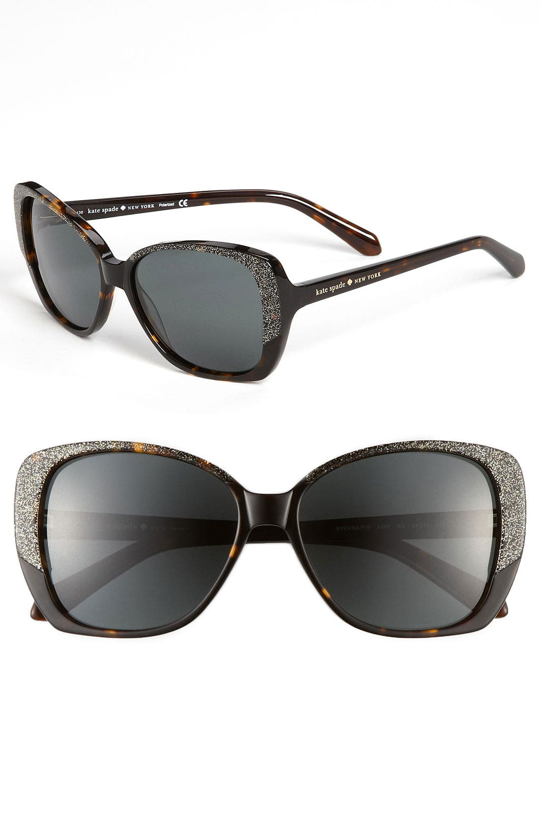 Main Image - kate spade new york 'brenna' 54mm polarized sunglasses