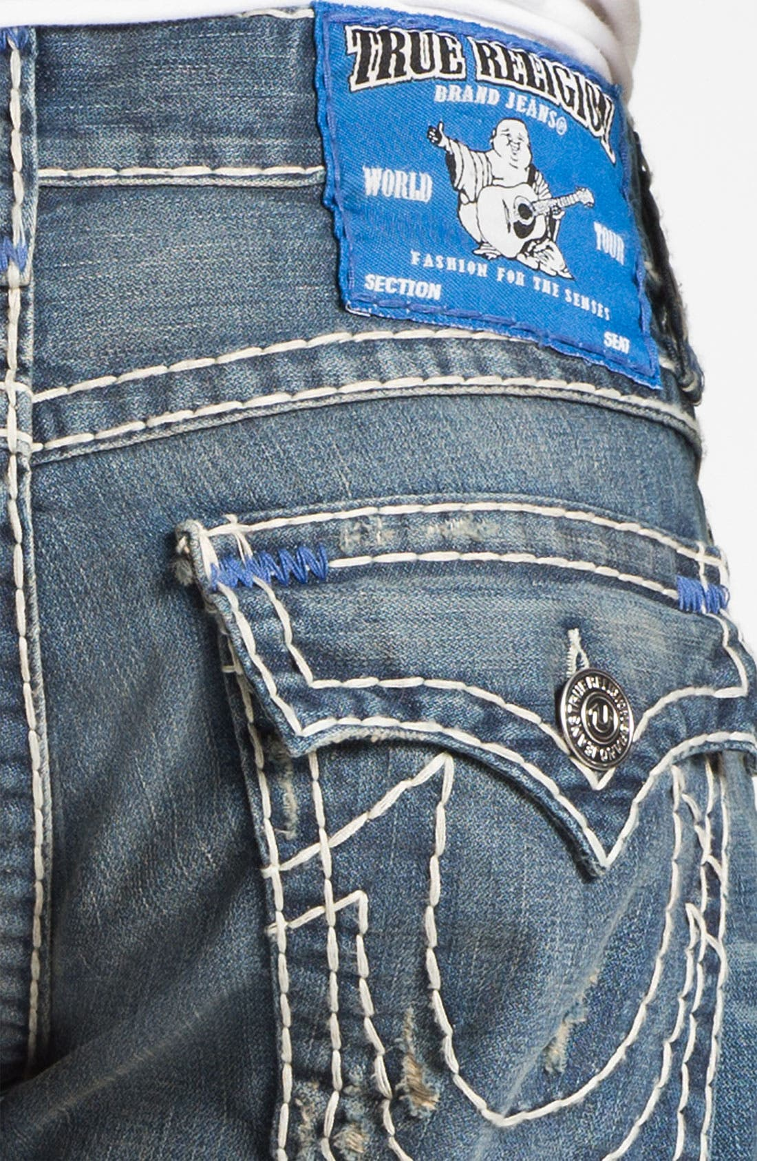 Alternate Image 4  - True Religion Brand Jeans 'Ricky' Straight Leg Jeans (Old Country)