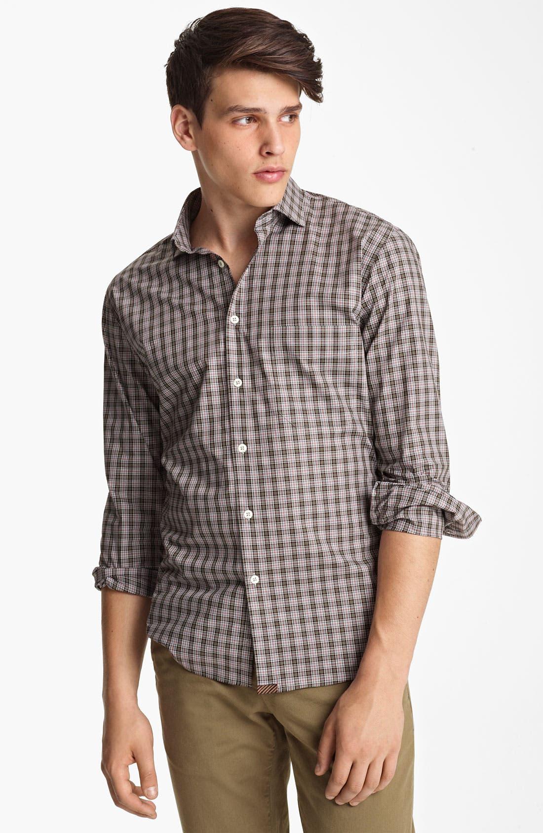 Alternate Image 1 Selected - Billy Reid 'John T' Check Woven Shirt