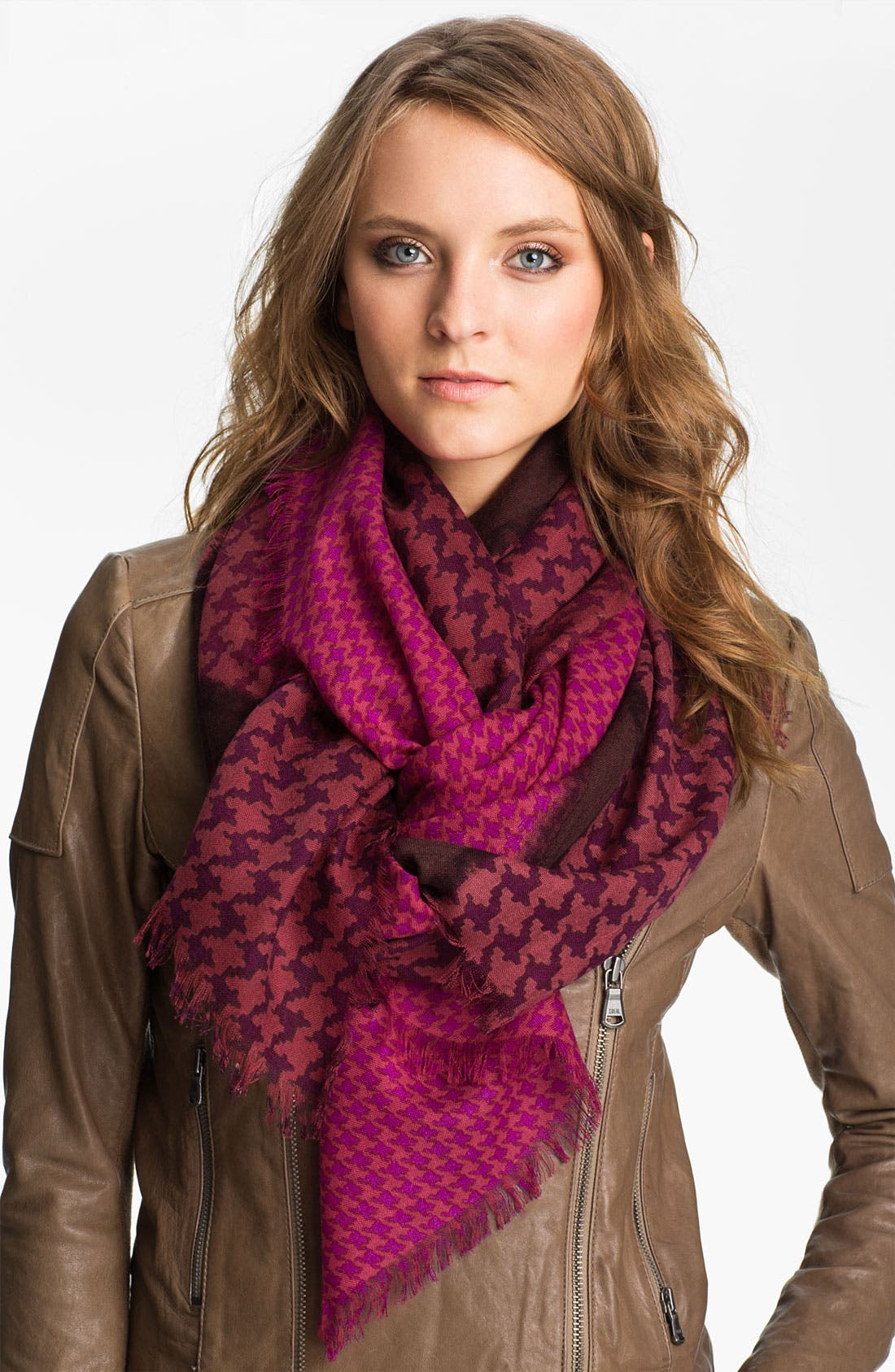 Alternate Image 1 Selected - Halogen® 'Emery' Wool Challis Scarf