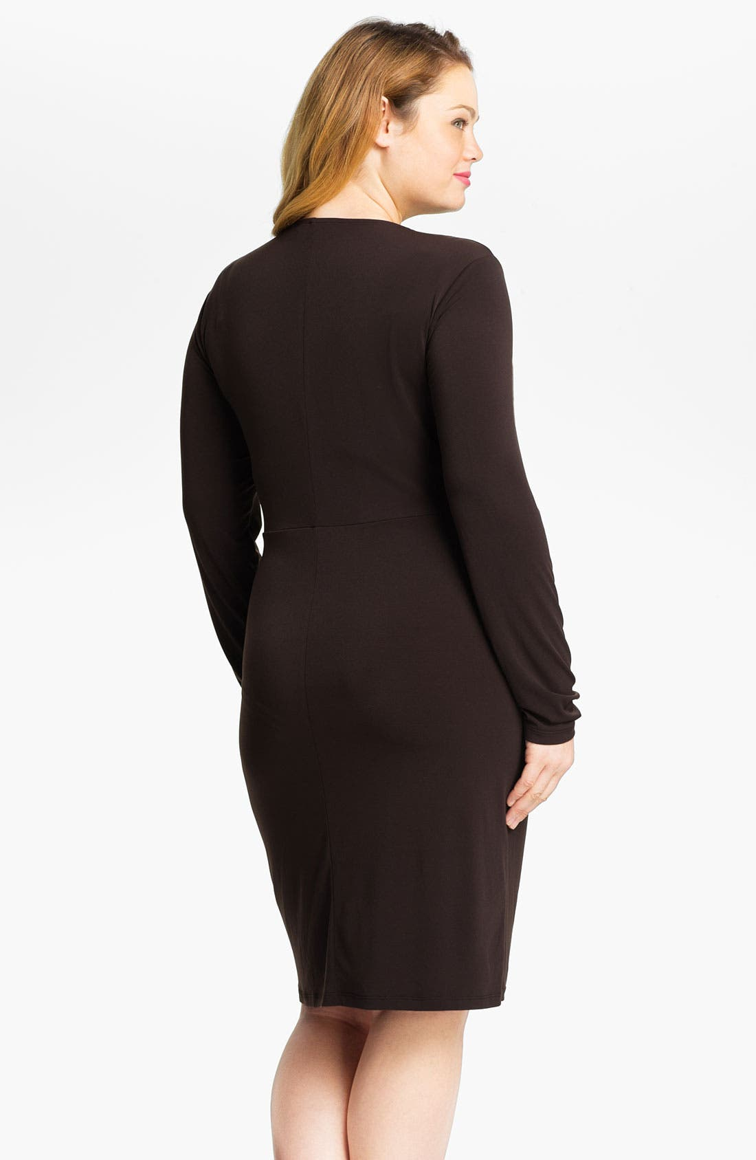 Alternate Image 2  - MICHAEL Michael Kors Long Sleeve Wrap Dress (Plus)