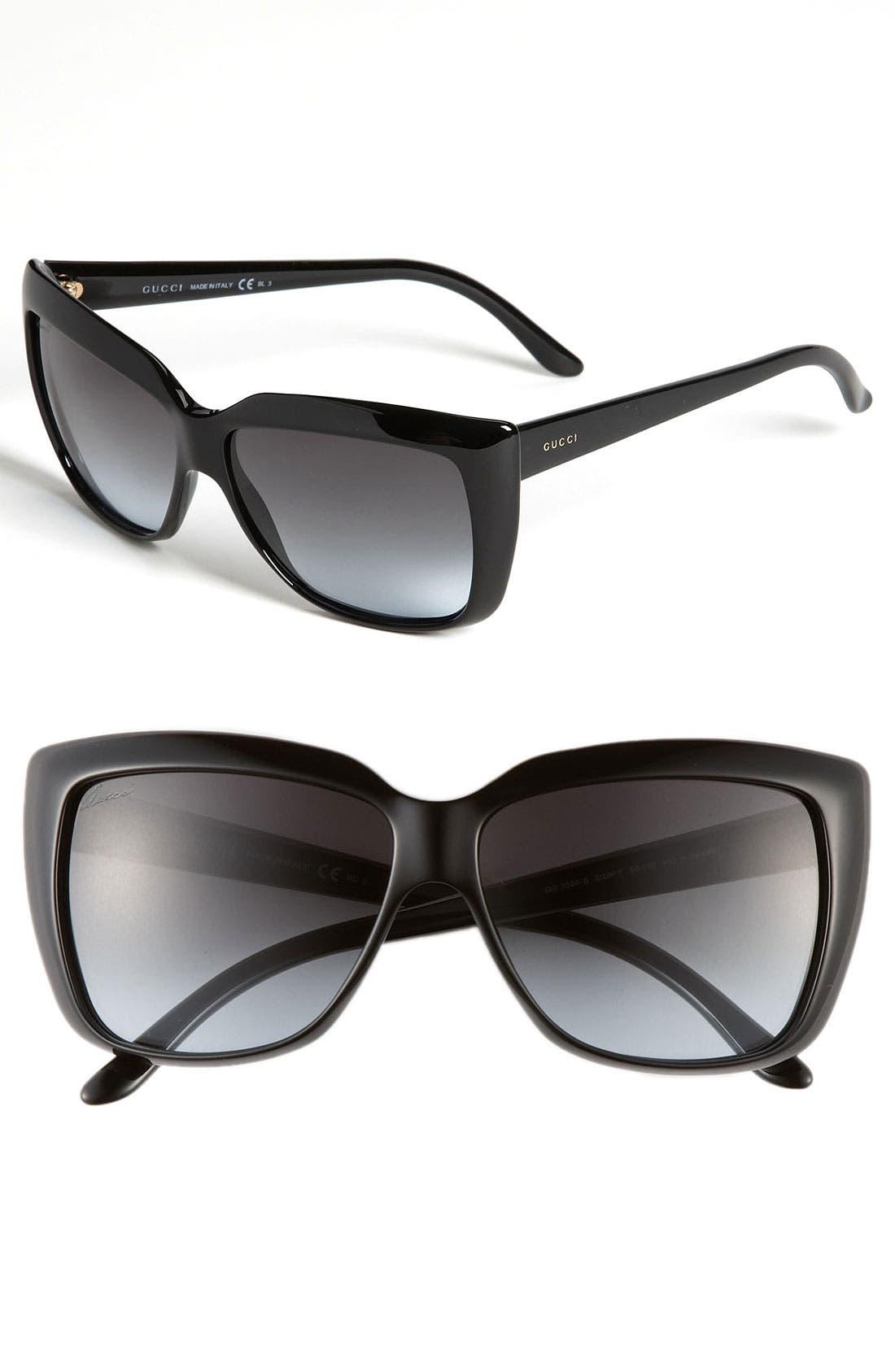 Main Image - Gucci 58mm Retro Sunglasses