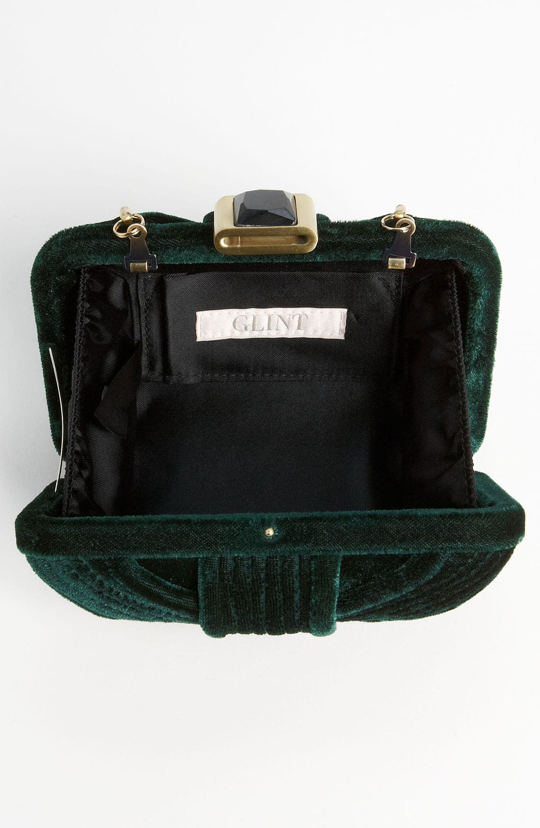 Alternate Image 3  - Glint Velvet Minaudiere Box Clutch