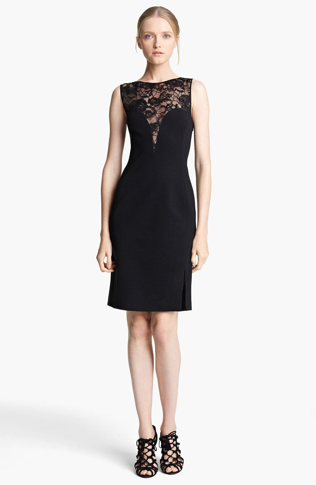 Main Image - Emilio Pucci Lace Yoke Punto Milano Dress
