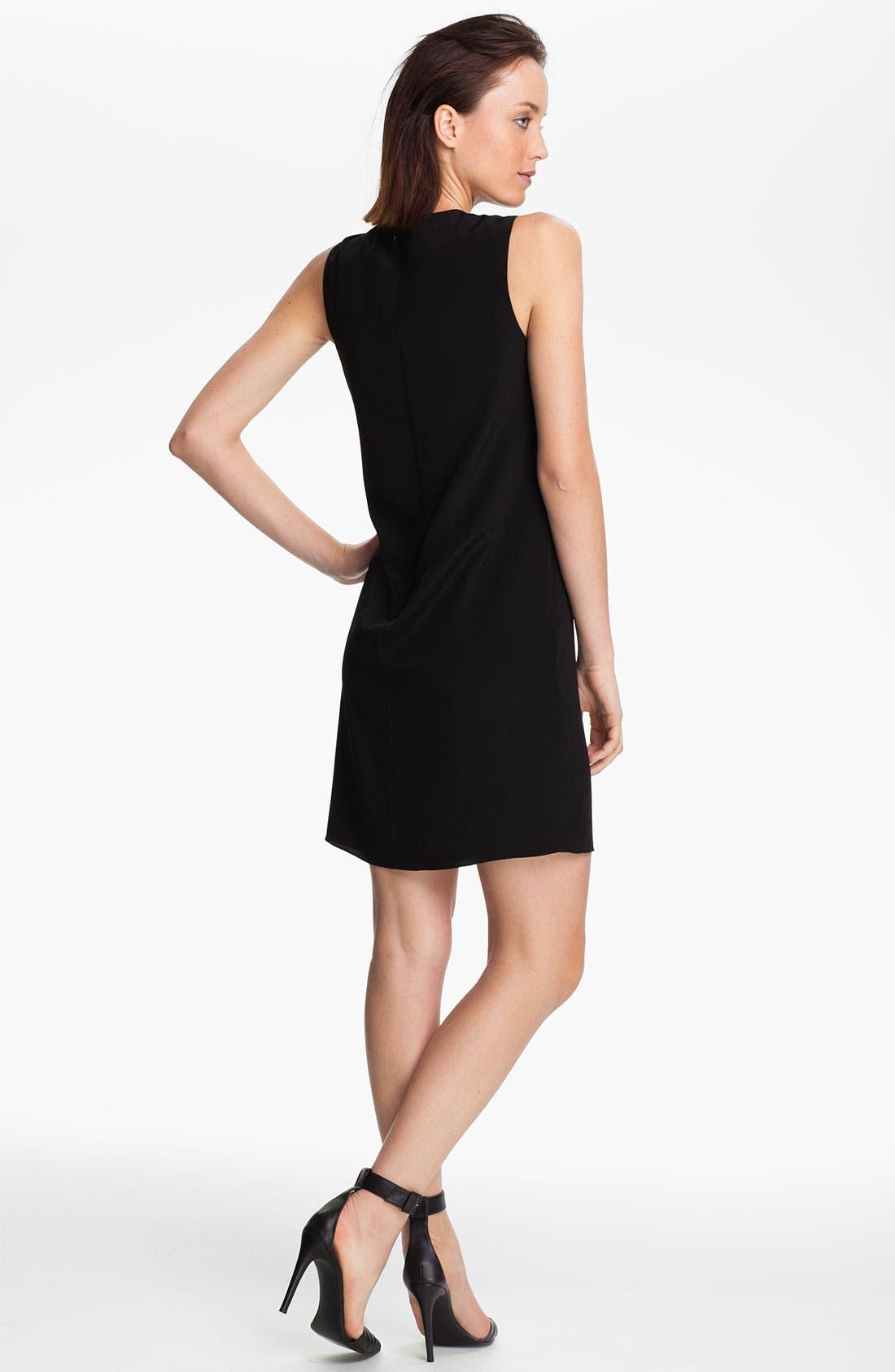 Alternate Image 2  - Tibi Draped Front Silk Dress
