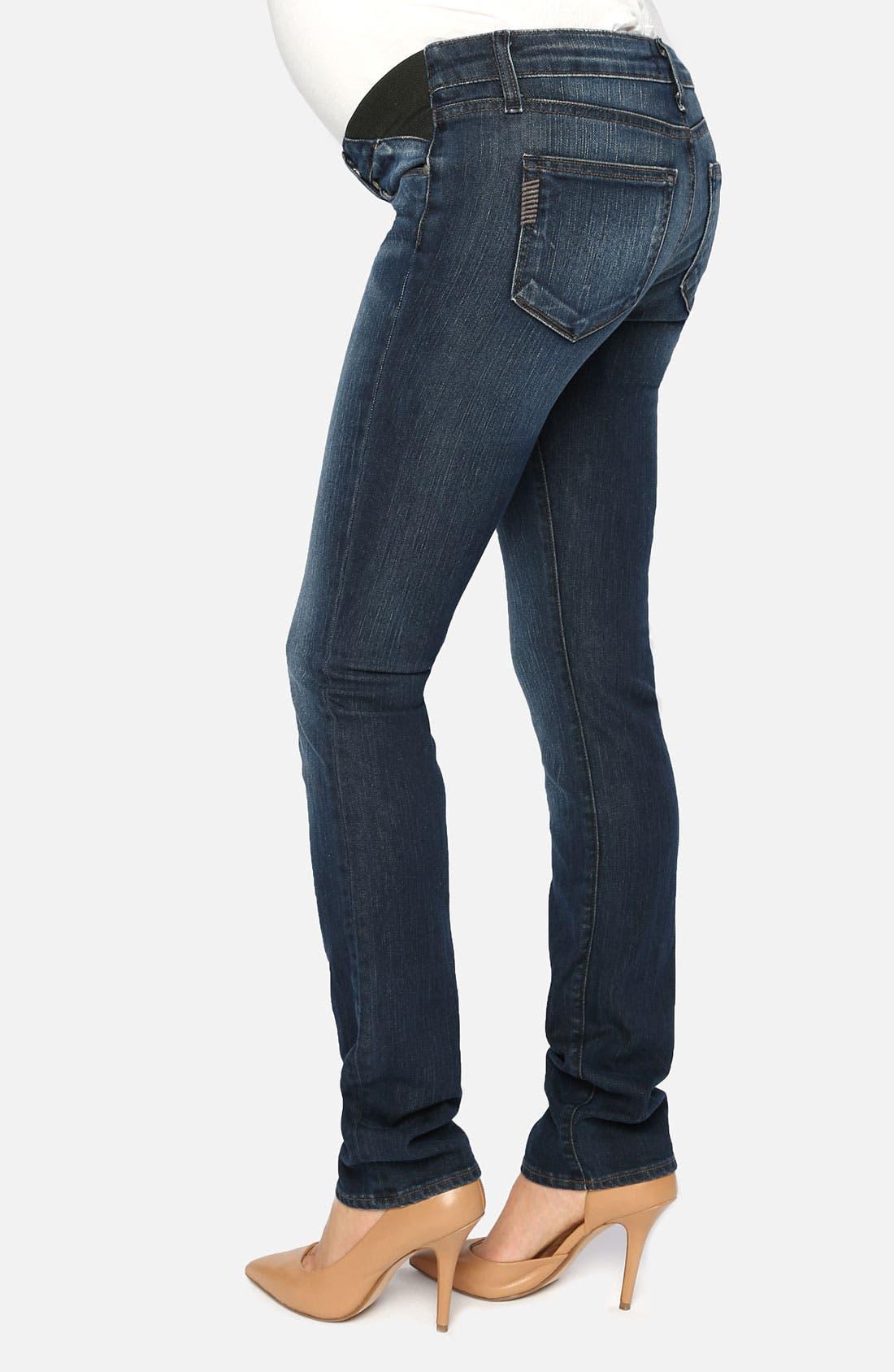 Alternate Image 2  - Paige Denim 'Union Skyline' Skinny Leg Maternity Jeans (Amethyst)