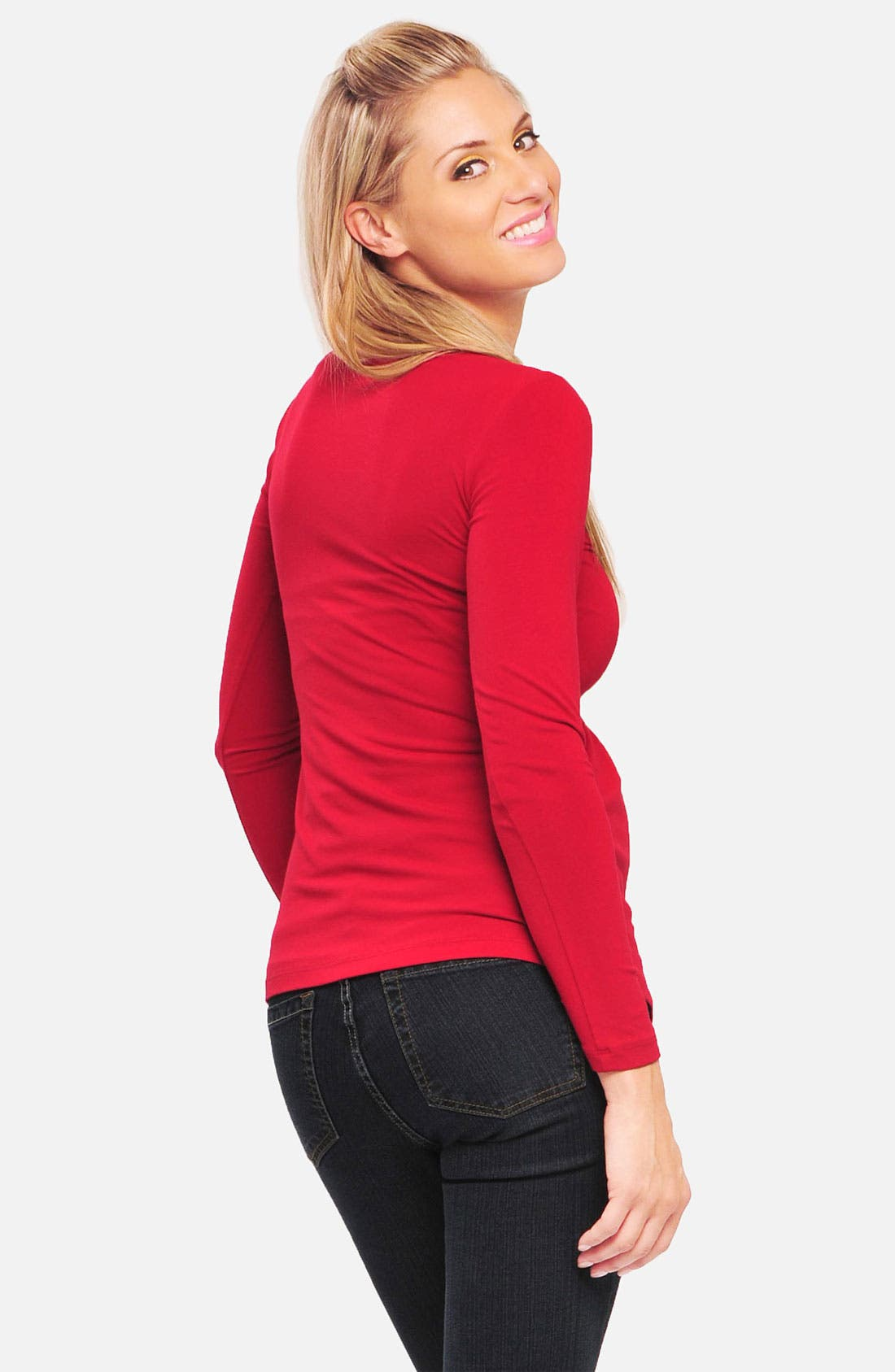 Alternate Image 2  - Olian Knot Front Maternity Top