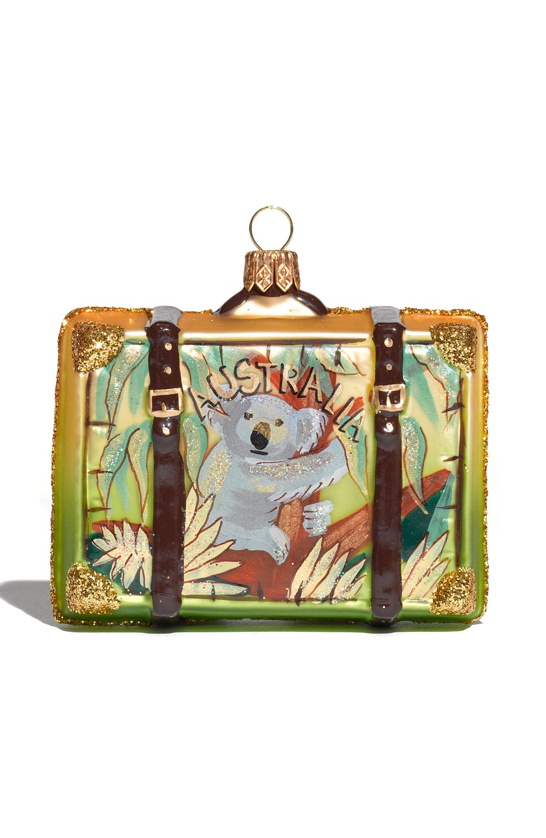 Alternate Image 1 Selected - Nordstrom at Home 'Australia' Glass Suitcase Ornament