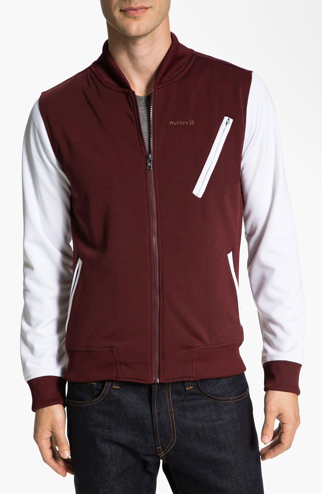Main Image - Hurley 'Velocity' Fleece Varsity Jacket
