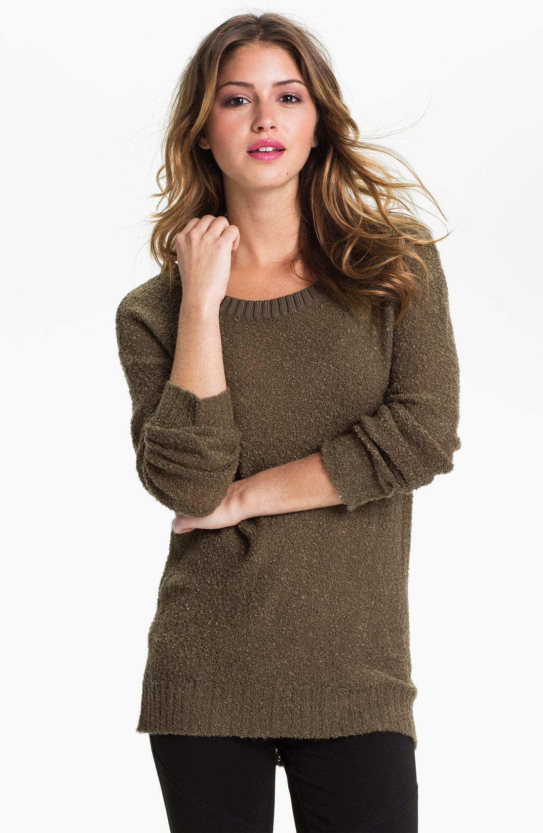 Alternate Image 1 Selected - Rubbish® Bouclé Sweater (Juniors)