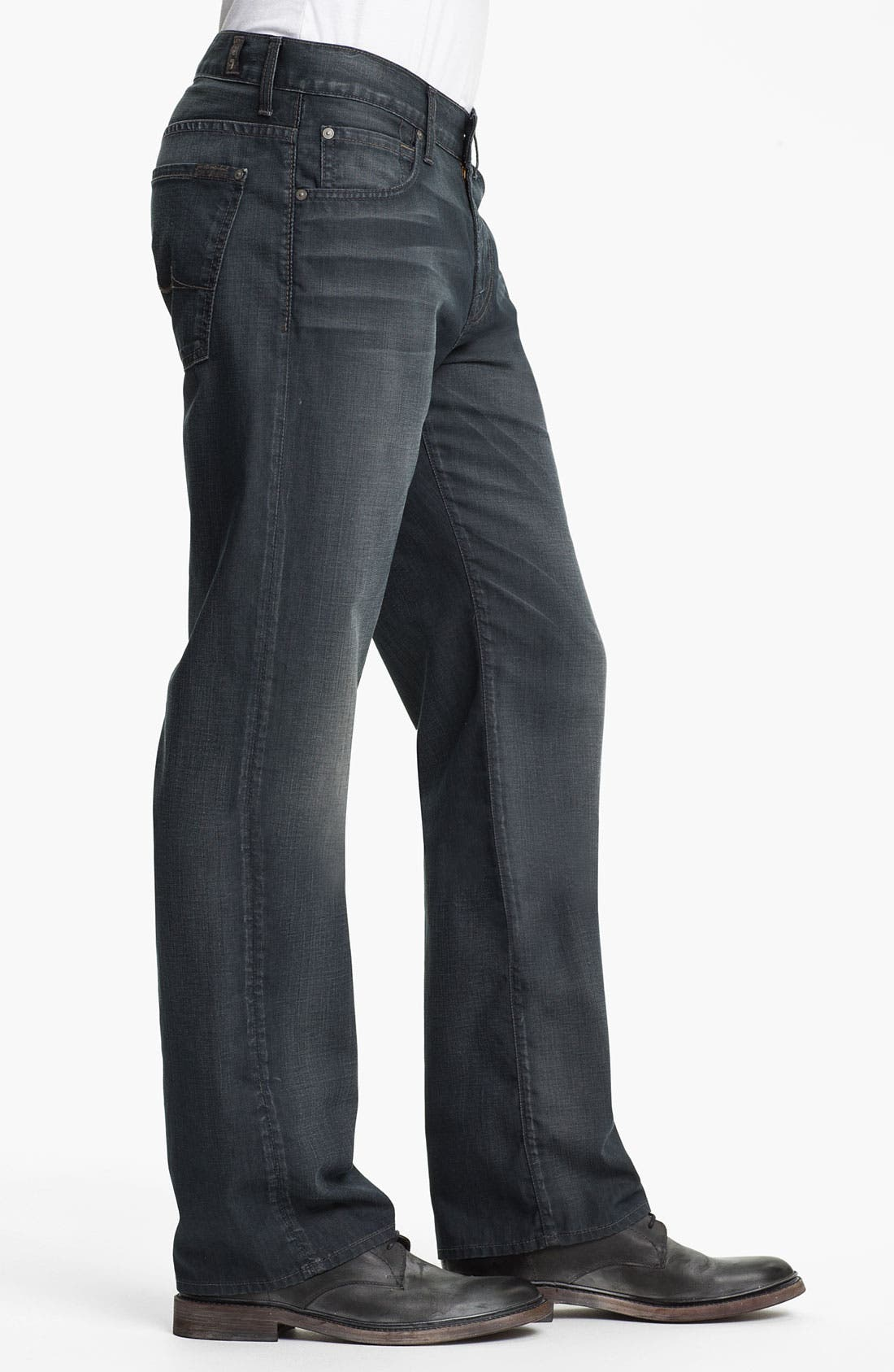 Alternate Image 3  - 7 For All Mankind® 'Austyn' Straight Leg Jeans (New Grey Shade)