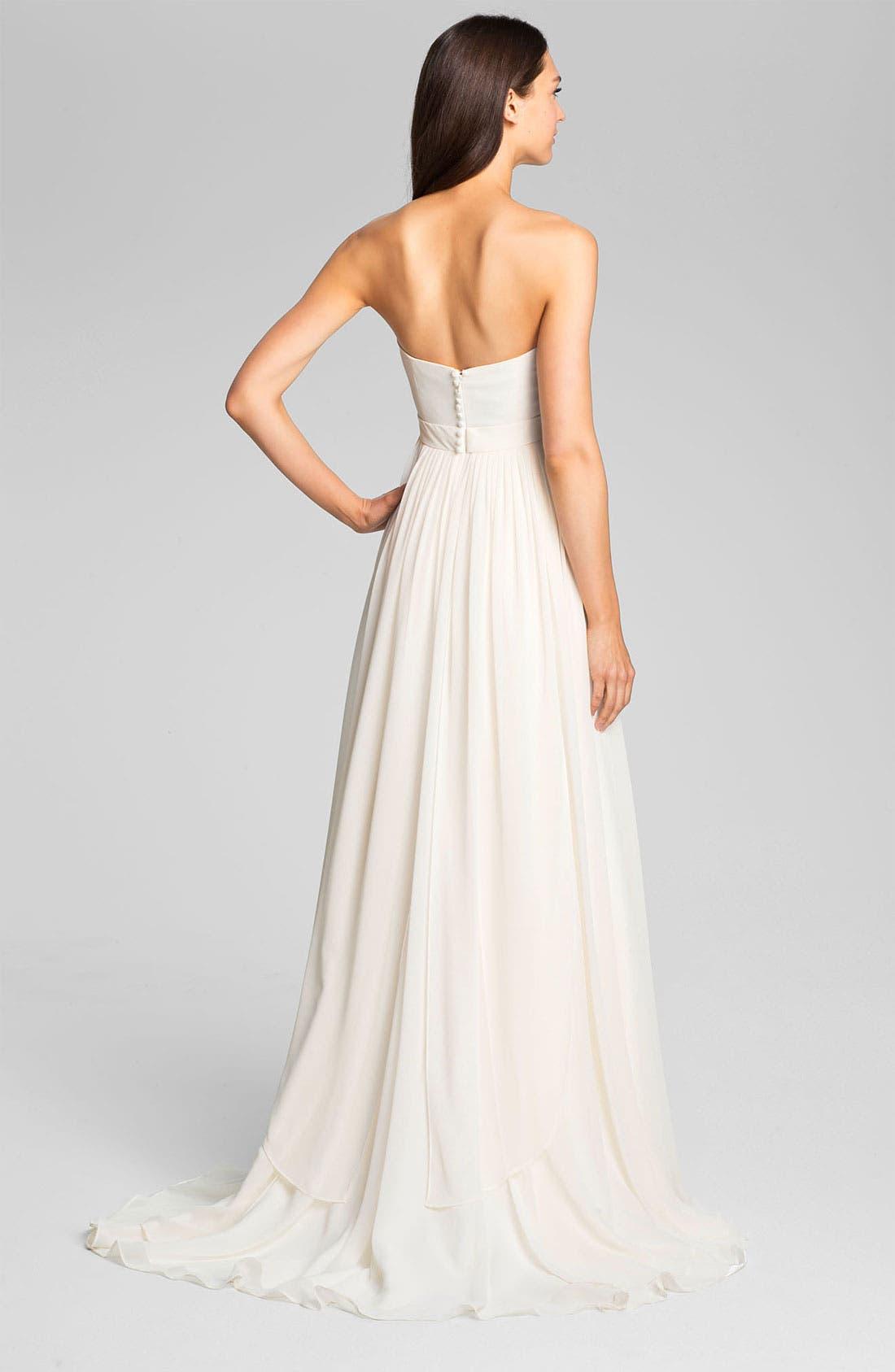 Alternate Image 2  - Jenny Yoo 'Monarch' Sweetheart Neckline Layered Chiffon Gown