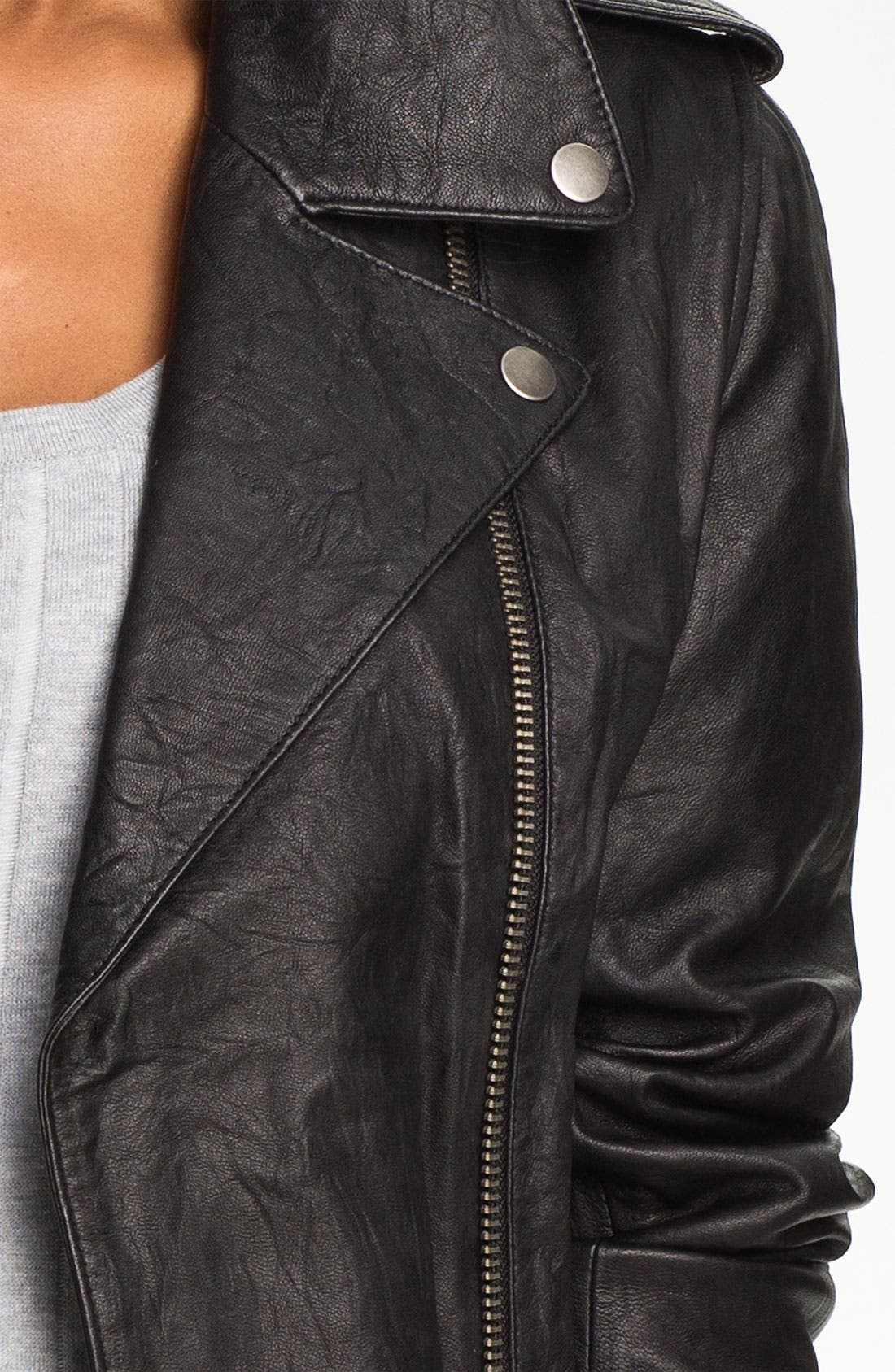 Alternate Image 3  - Two by Vince Camuto Leather Jacket
