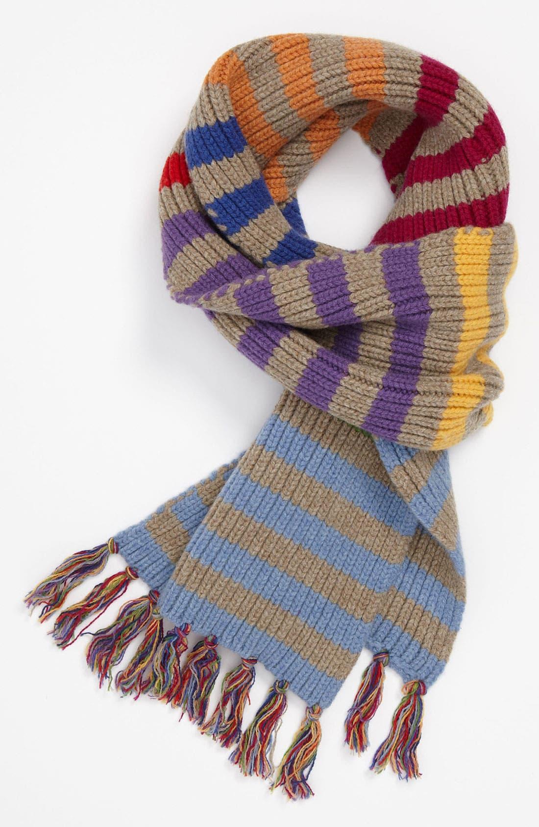 Main Image - Jack Spade 'Blume' Stripe Wool Scarf