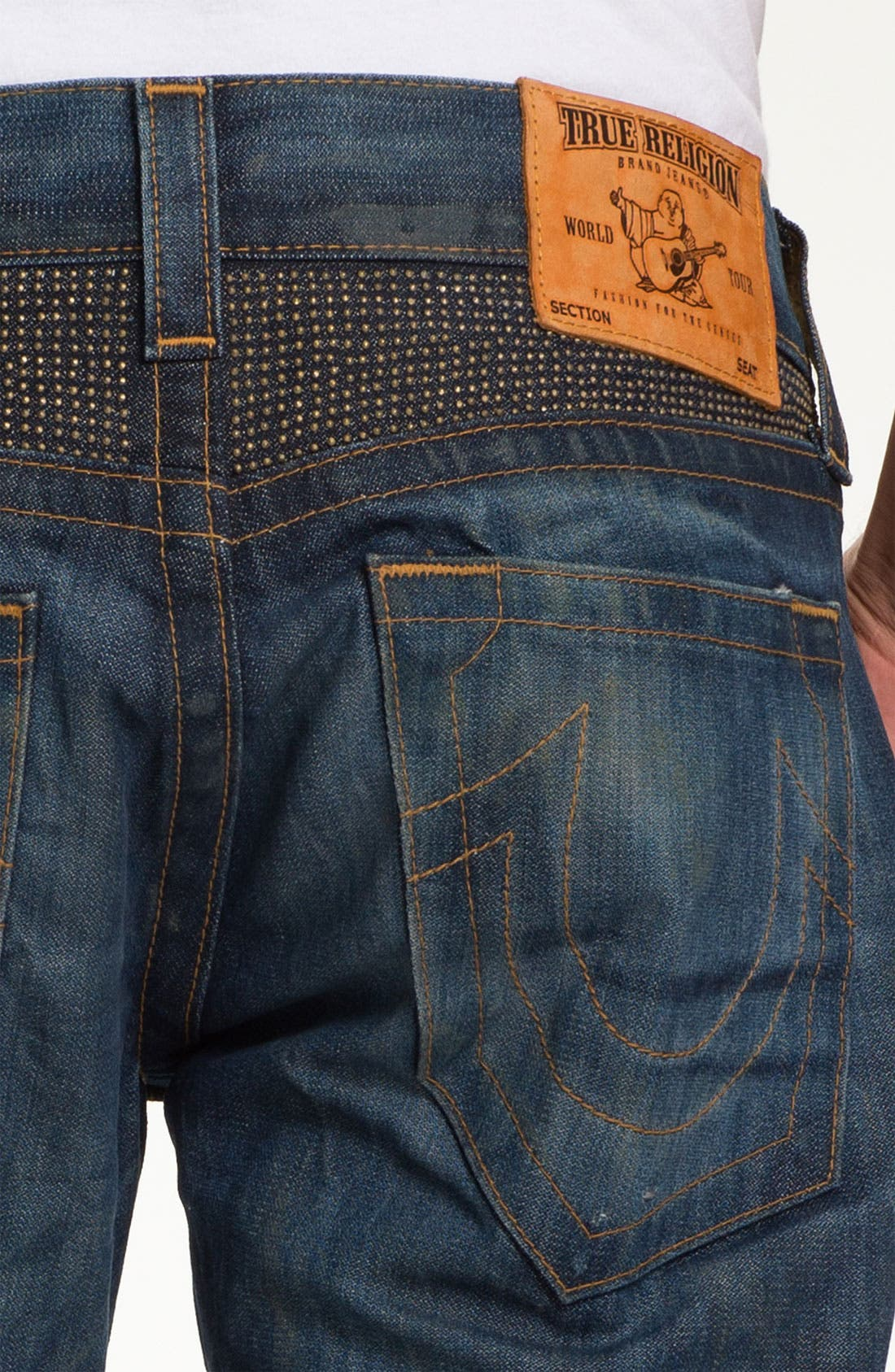 Alternate Image 4  - True Religion Brand Jeans 'Geno' Slim Straight Leg Jeans (Hideout)