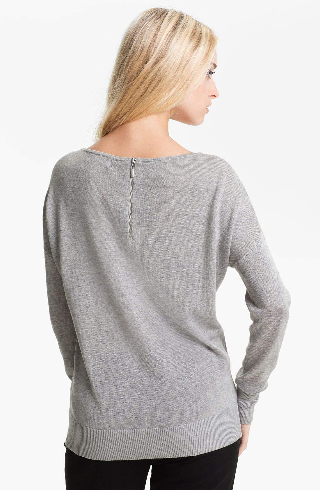 Alternate Image 2  - Nordstrom Collection Silk & Cashmere Sweater