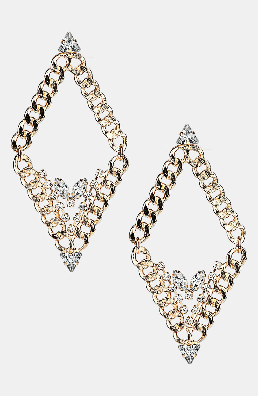Main Image - Topshop 'Curb' Shaped Chain Earrings